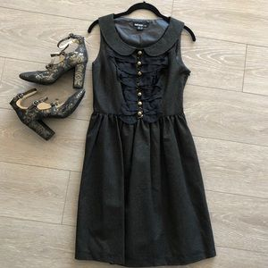 Kensie Black Gold Sparkle Collar Beaded Dress